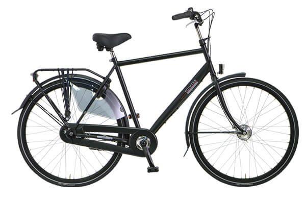 Vylora heren fiets matzwart Amsterdam