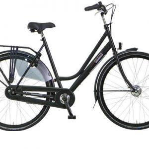 Vylora dames fiets matzwart Amsterdam