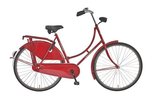 Glorie RVS - rode omafiets van Pointer